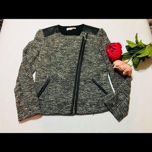 Calvin Klein tweed moto jacket size 10